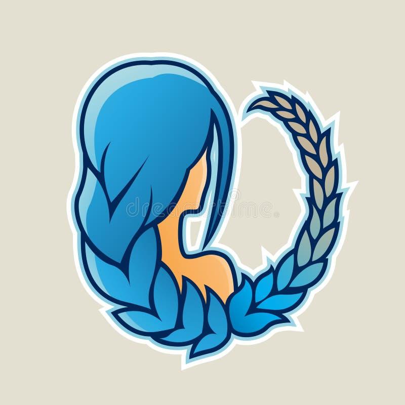 Gémeaux ou illustration bleus de vecteur d'icône de jumeaux illustration stock