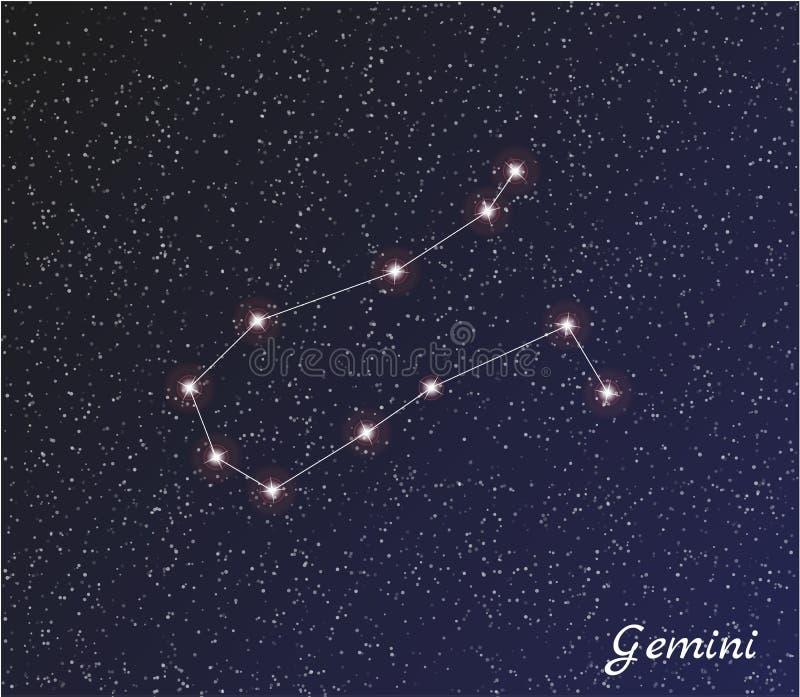 Géminis de la constelación stock de ilustración