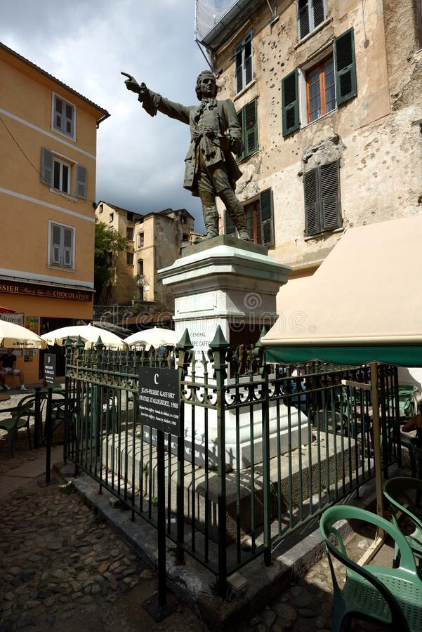 General Jean-Pierre Gaffory, Place Gaffory, Corte, Corse, France stock photo