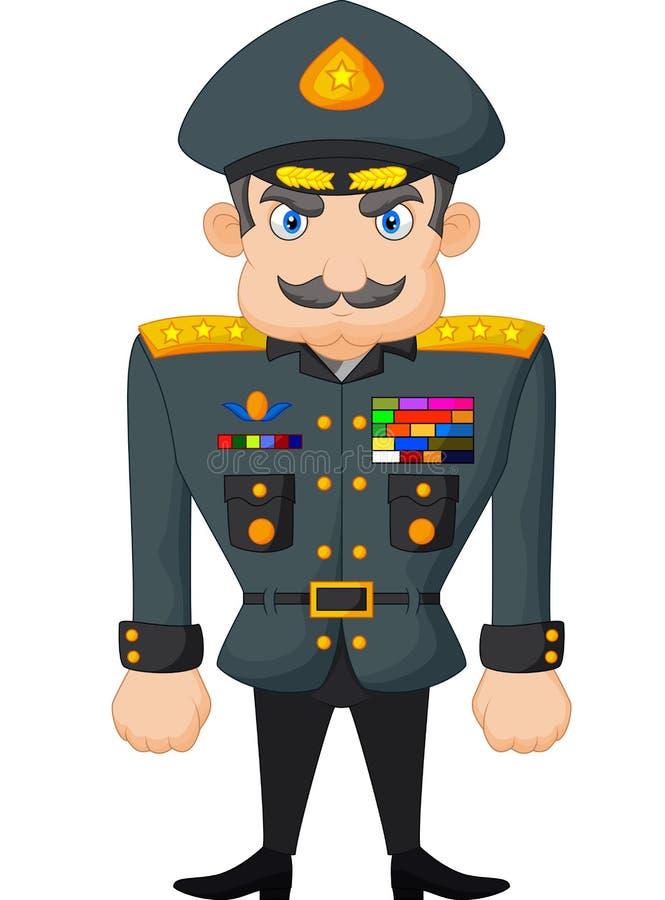 Général militaire de bande dessinée illustration libre de droits