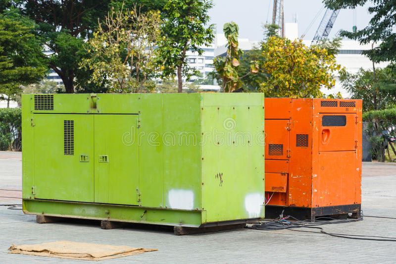 Générateur électrique photos stock