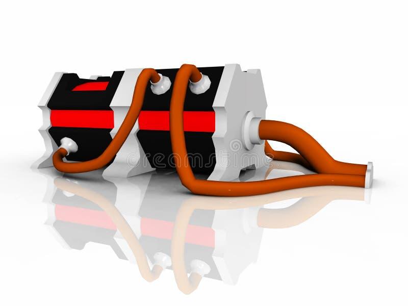 Générateur électrique illustration stock