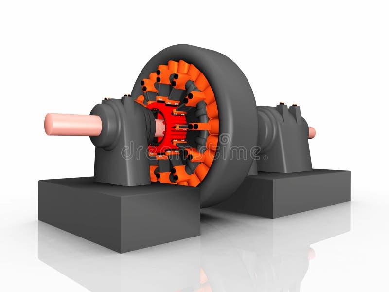 Générateur électrique illustration libre de droits