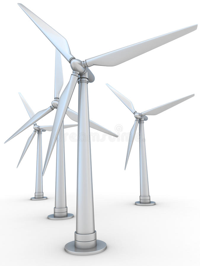 Générateur actionné par le vent illustration libre de droits