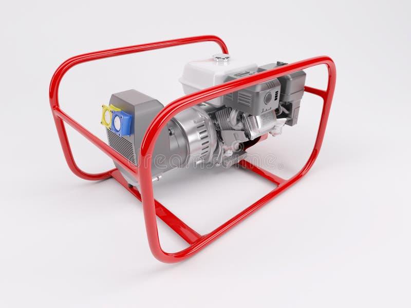 Générateur alimenté au gaz illustration libre de droits