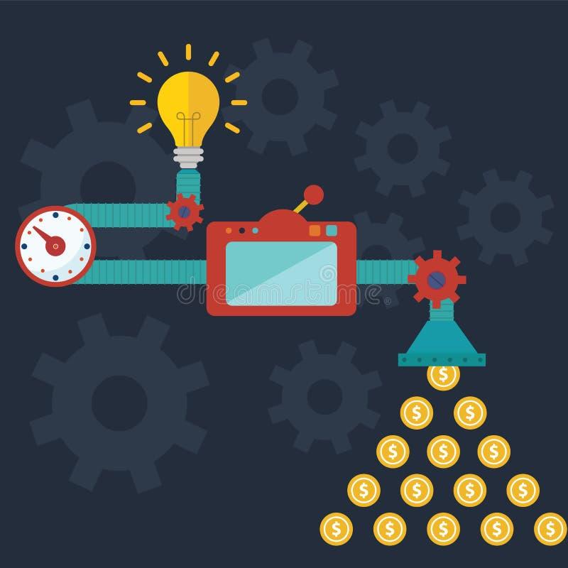 Générateur créatif d'idée, illustration moderne de vecteur d'idée lumineuse illustration de vecteur
