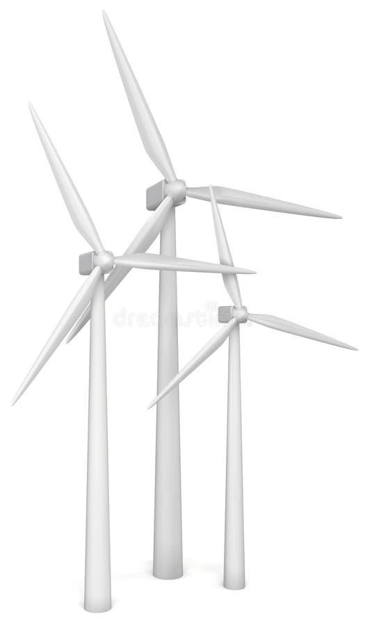 Générateur d'énergie éolienne illustration stock