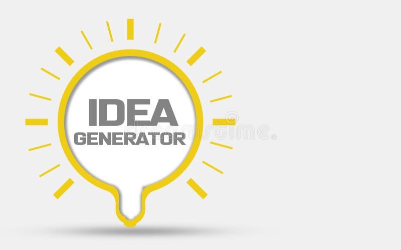 Générateur d'idée, idée d'ampoule illustration libre de droits