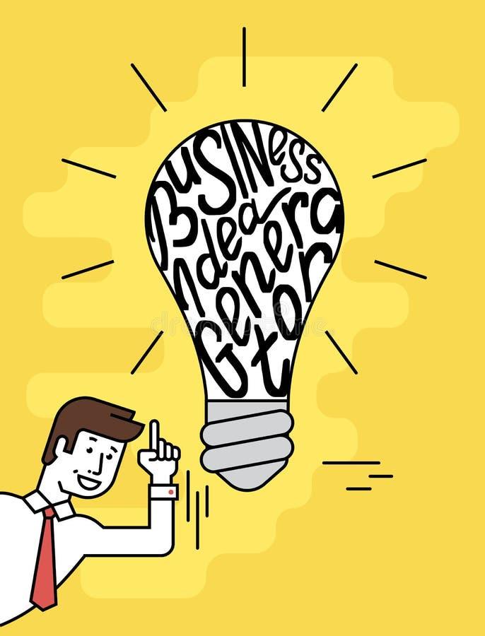 Générateur d'idée d'affaires illustration libre de droits