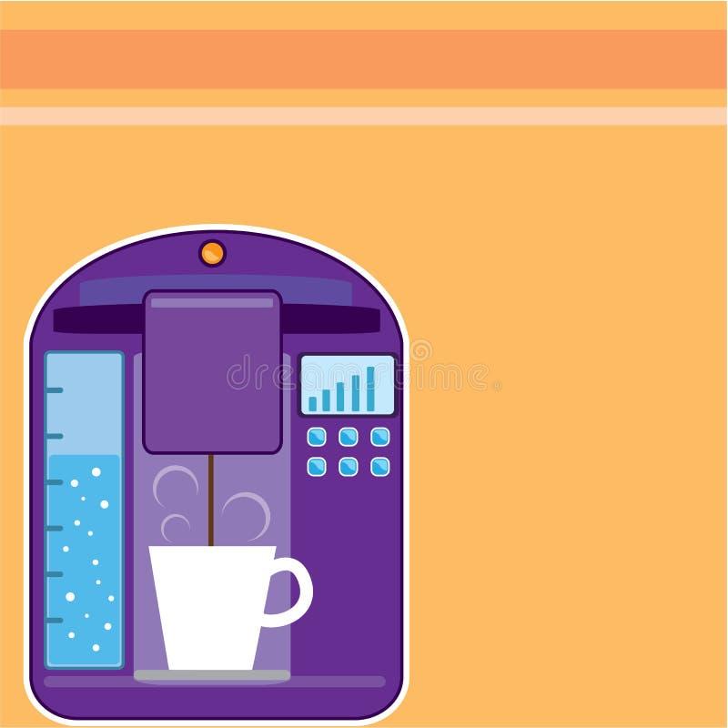 Générateur de café illustration de vecteur