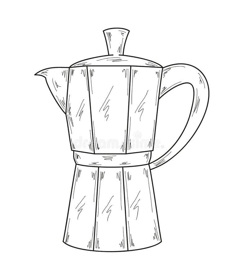 Générateur de café illustration libre de droits