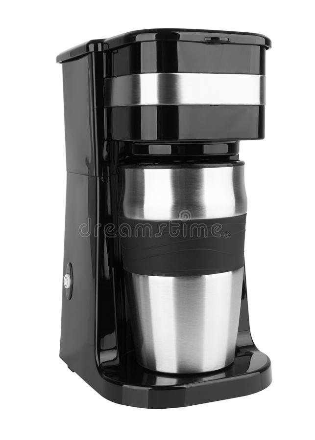Générateur de café d'isolement image stock