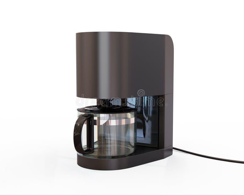 Générateur de café d'isolement sur le fond blanc illustration libre de droits