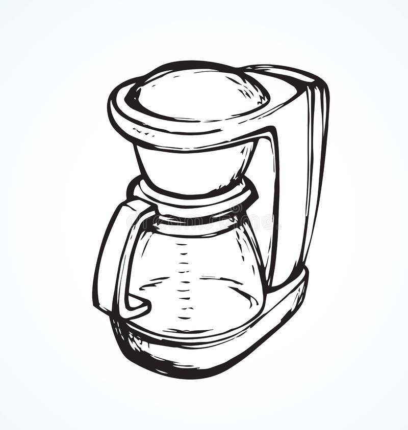 Générateur de café Retrait de vecteur illustration de vecteur