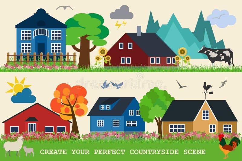 Générateur de carte de ville Éléments pour créer votre ville parfaite illustration stock