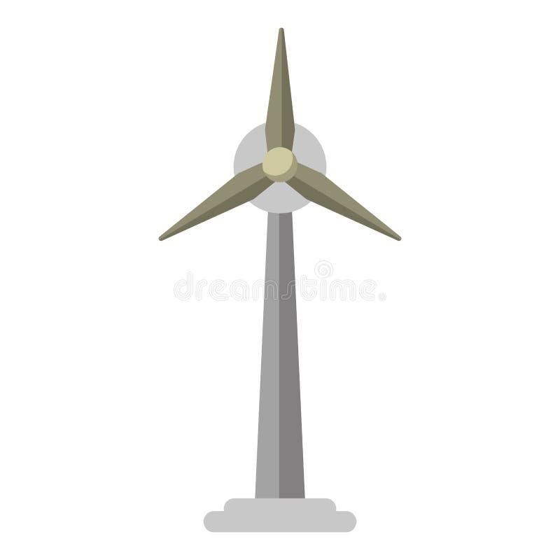 Générateur de l'électricité de turbine de vent d'écologie illustration libre de droits