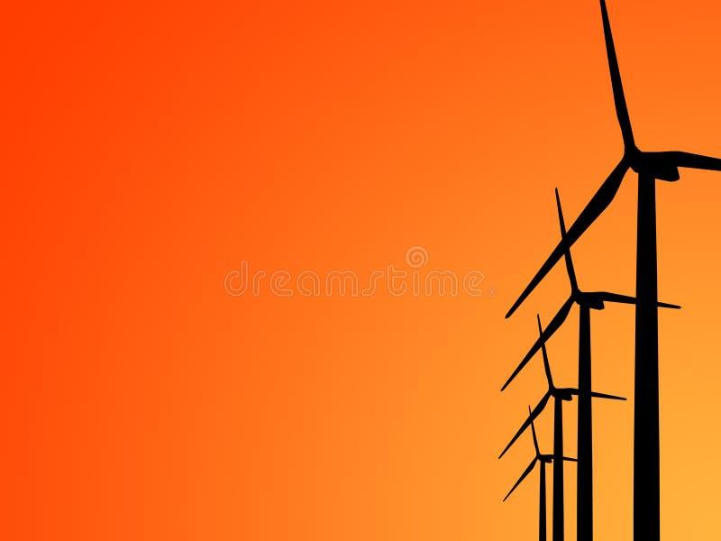 Générateur de turbine de vent illustration stock