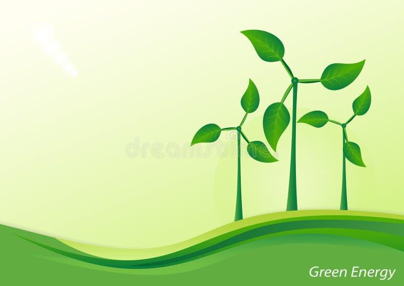 Générateur de vent, énergie verte illustration stock