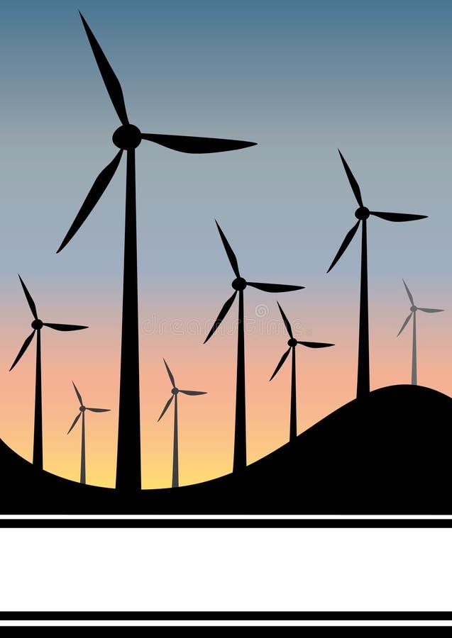 Générateur de vent illustration stock