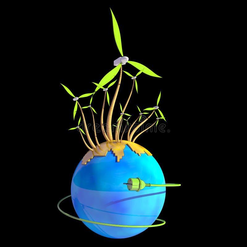 Générateur de vent illustration libre de droits