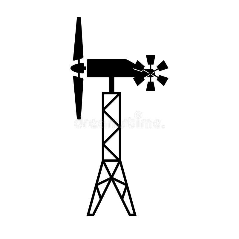 Générateur de vent avec le windrose illustration de vecteur