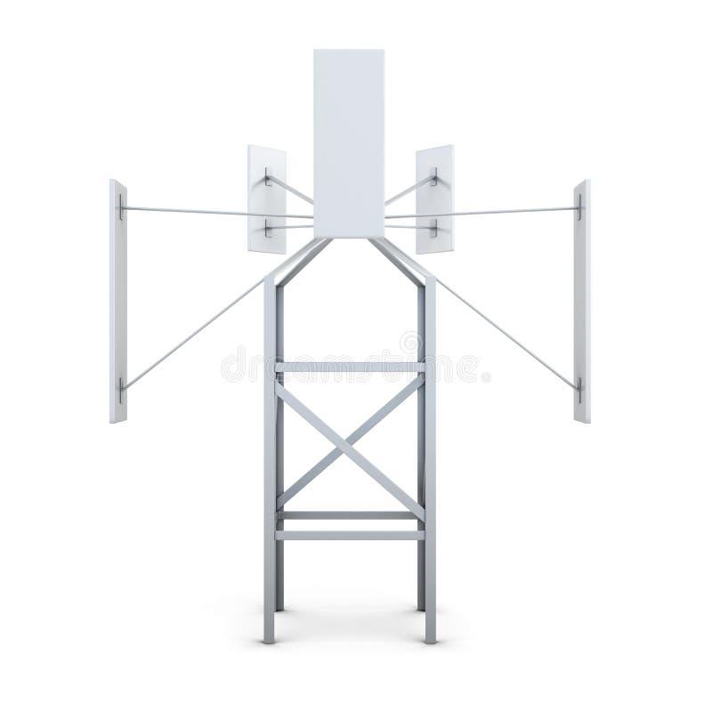Générateur de vent d'isolement sur le fond blanc rendu 3d illustration de vecteur