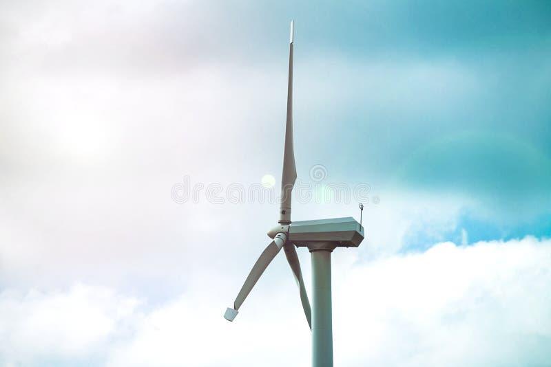 Générateur de vent pour la production d'électricité, technologies modernes pour la génération d'énergie éolienne photo stock