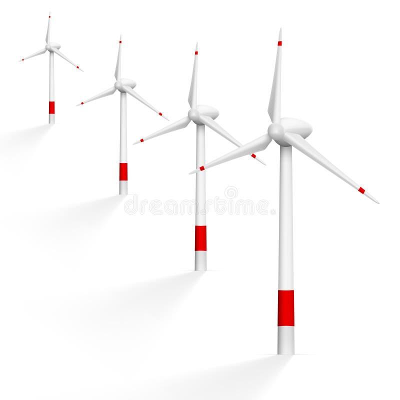 Générateur de vent réaliste avec l'ombre illustration libre de droits