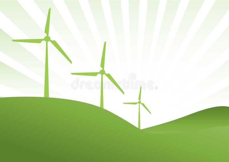 Générateur de vent vert illustration stock