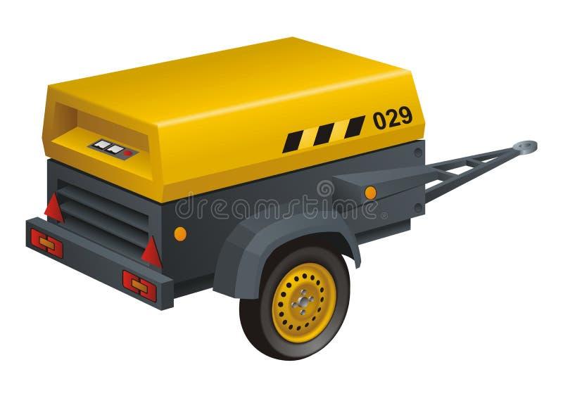 Générateur diesel illustration libre de droits