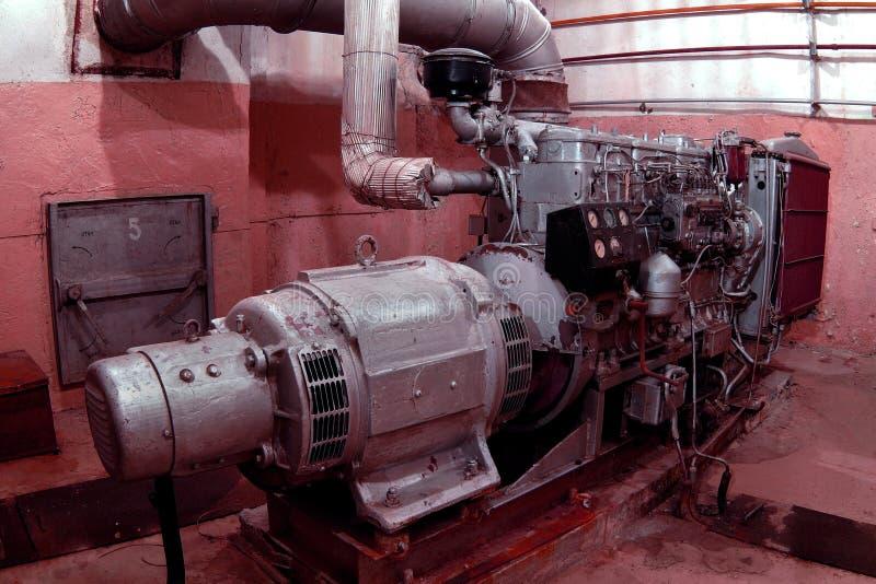 Générateur diesel photo libre de droits