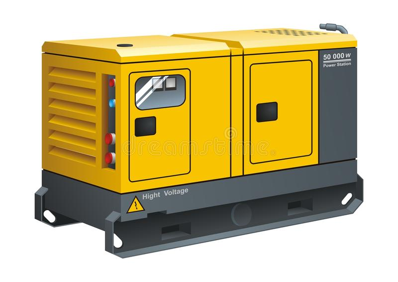 Générateur diesel stationnaire illustration stock