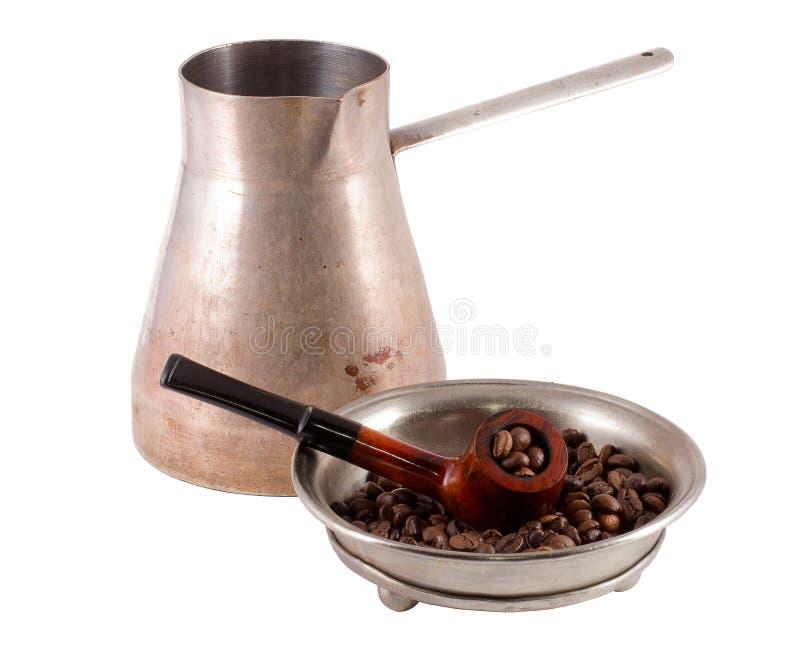 Générateur et pipe de café illustration stock