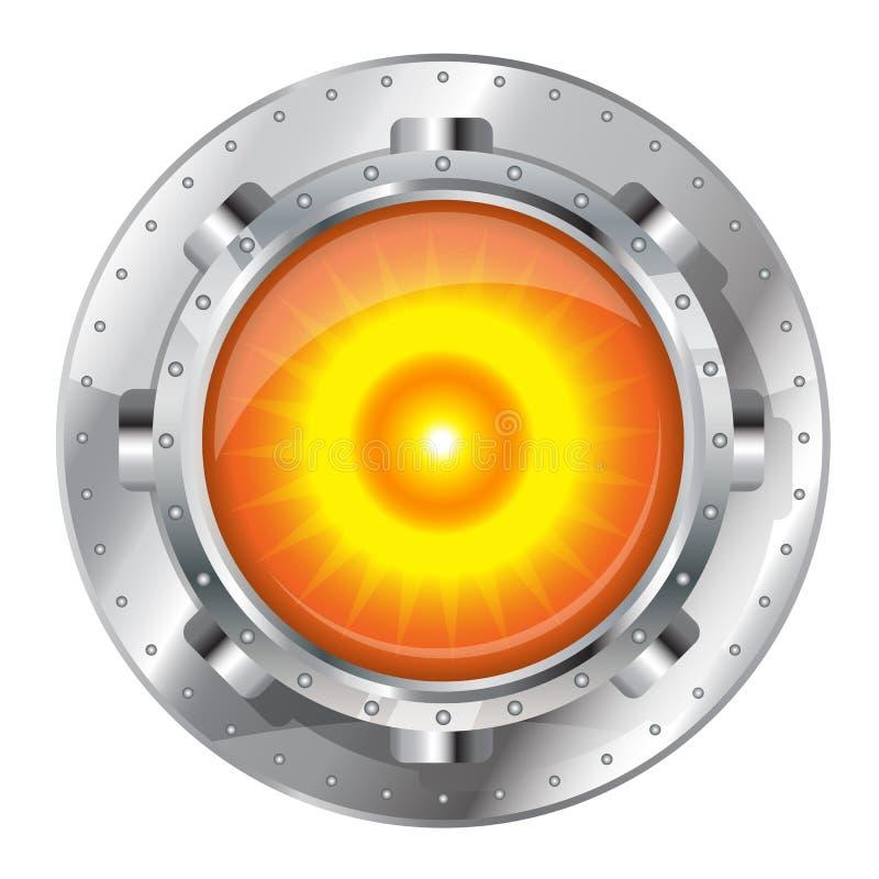 Générateur métallique d'énergie illustration stock