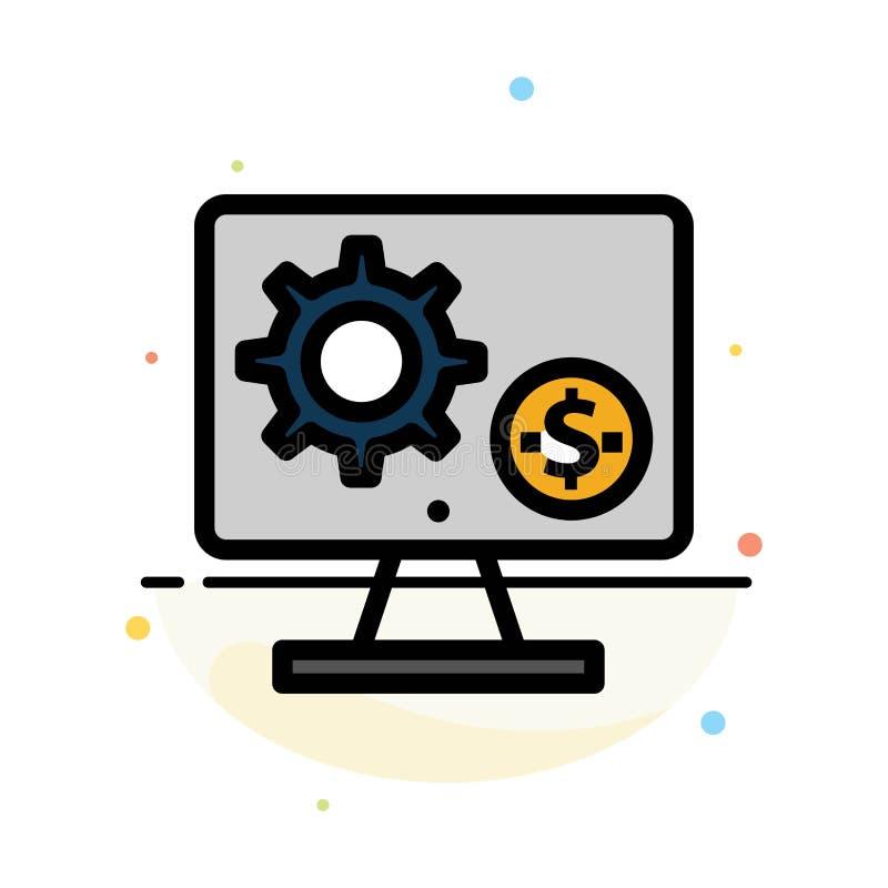 Générateur, moniteur, écran, arrangement, vitesse, calibre plat d'icône de couleur d'abrégé sur argent illustration stock