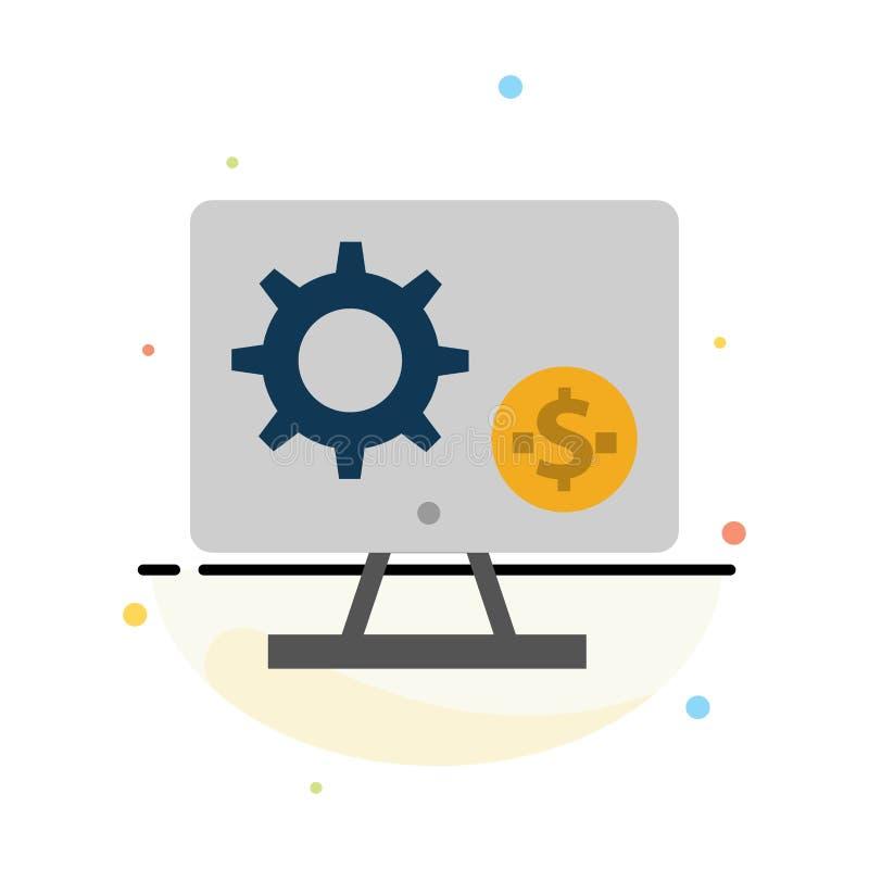 Générateur, moniteur, écran, arrangement, vitesse, calibre plat d'icône de couleur d'abrégé sur argent illustration libre de droits