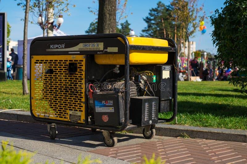 Générateur portatif d'essence pour l'urgence ou Electric Power auxiliaire pendant de divers événements photographie stock libre de droits