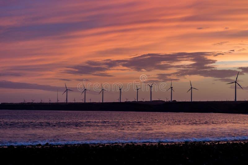 Générateurs d'énergie éolienne photos stock