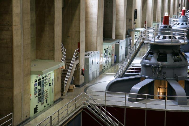Générateurs de barrage de Hoover photographie stock libre de droits