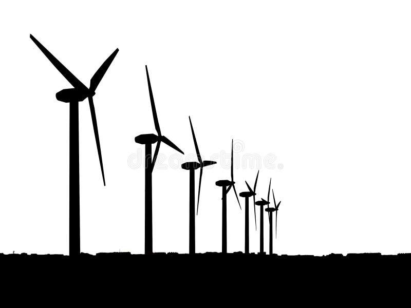 Générateurs de vent illustration stock