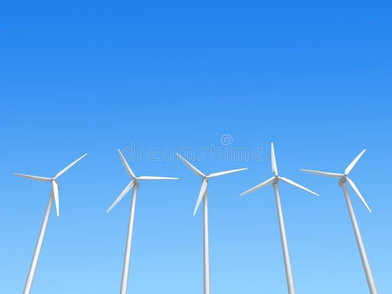 Générateurs de vent illustration de vecteur