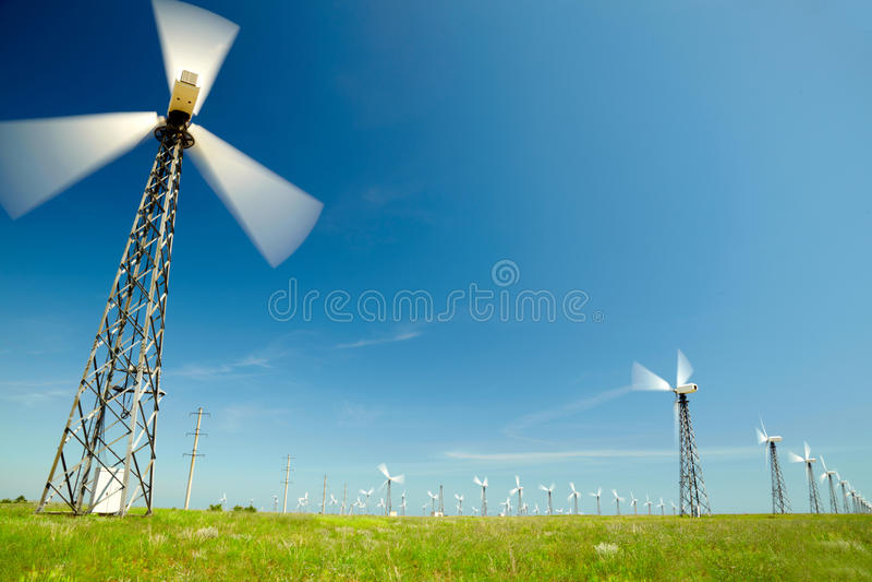 Générateurs de vent images stock