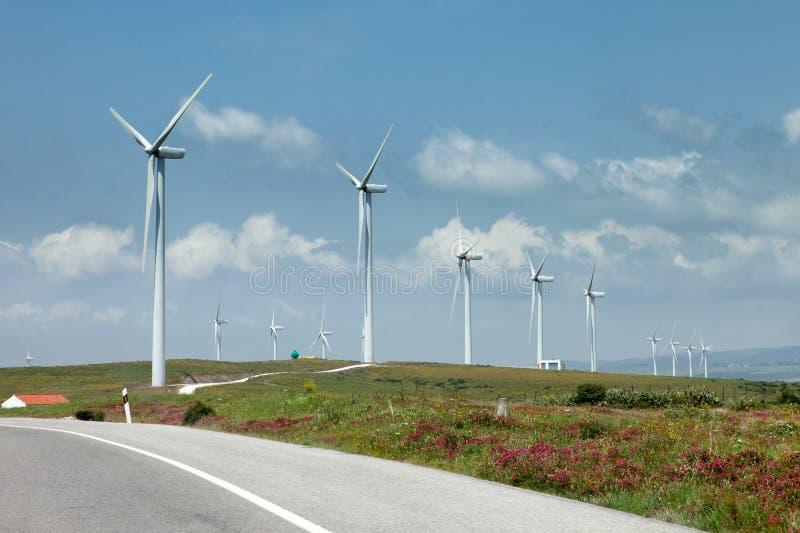 Générateurs de vent photographie stock libre de droits