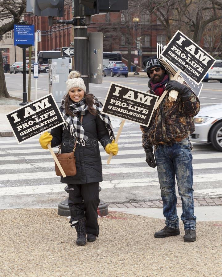 Génération contre l'avortement et l'euthanasie mars pendant la vie 2016 images libres de droits