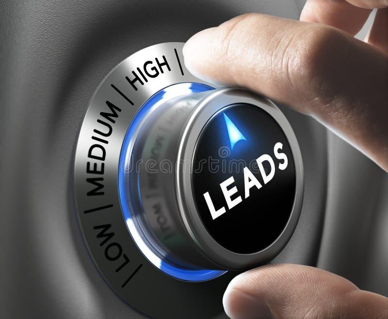 génération de leads illustration stock