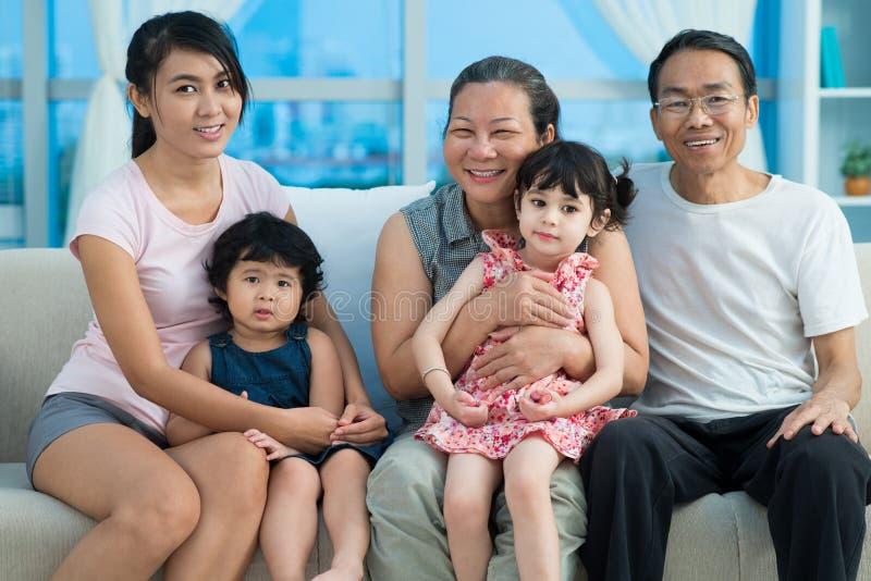 Générations de la famille photo stock