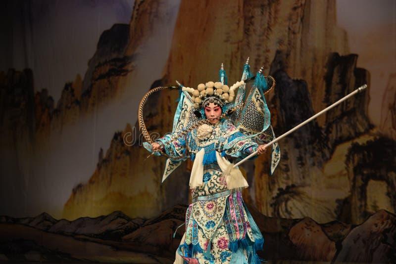 """Généraux de femmes de la MU Guiying- Pékin Opera"""" d'uniforme militaire de  de € de Yang Familyâ image stock"""