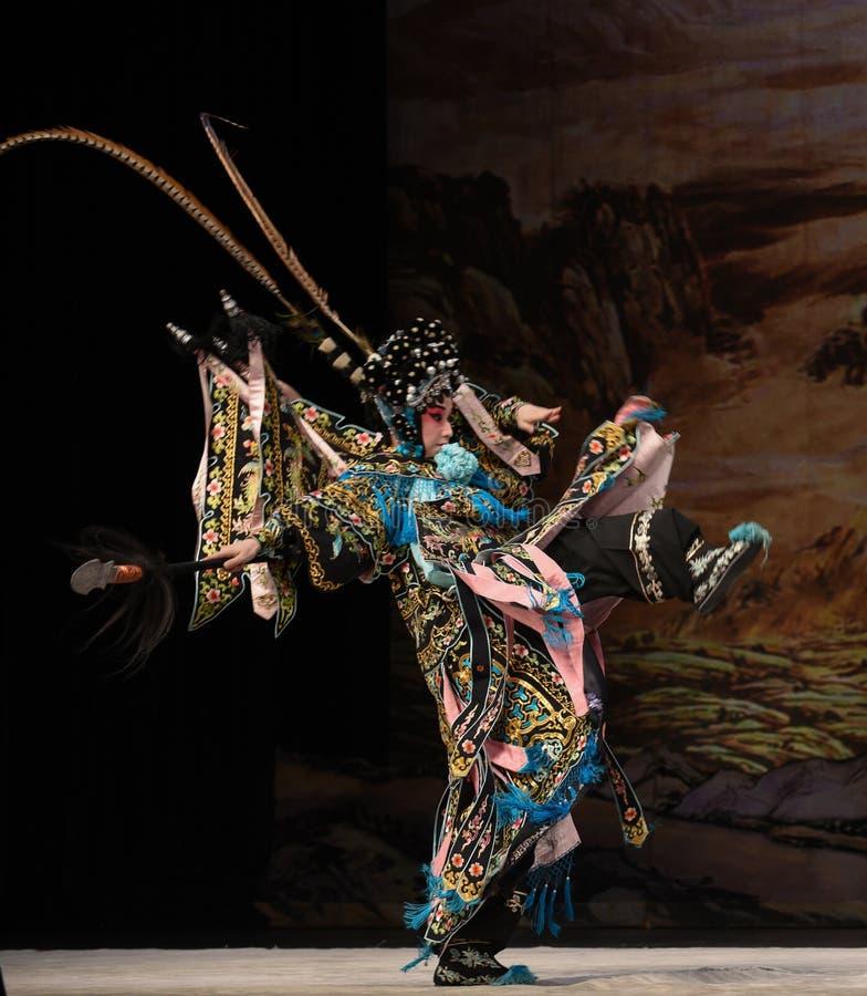 "Généraux en avant de femmes de mars courageusement Pékin Opera"" de  de € de Yang Familyâ photos stock"