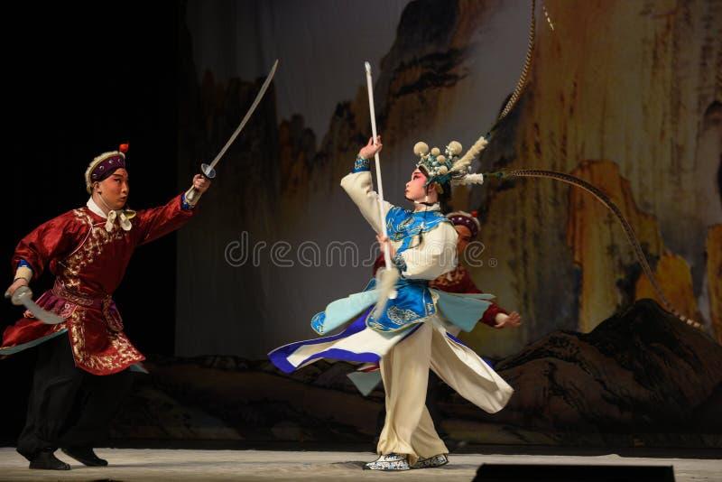 """Généraux juniors de femmes du Général Yang Zongbao- Pékin Opera"""" de  de € de Yang Familyâ image stock"""