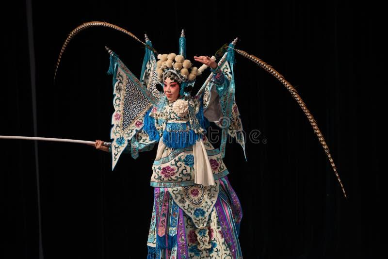 """Généraux noirs de femmes de Pékin Opera"""" de fond de  de € de Yang Familyâ photo stock"""